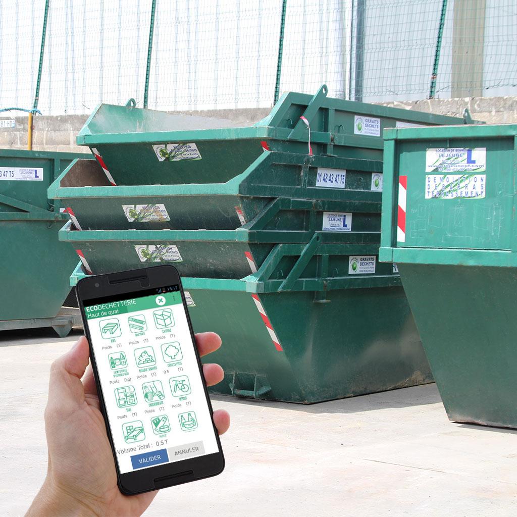 Logiciel et application mobile pour le suivi de la gestion des bennes